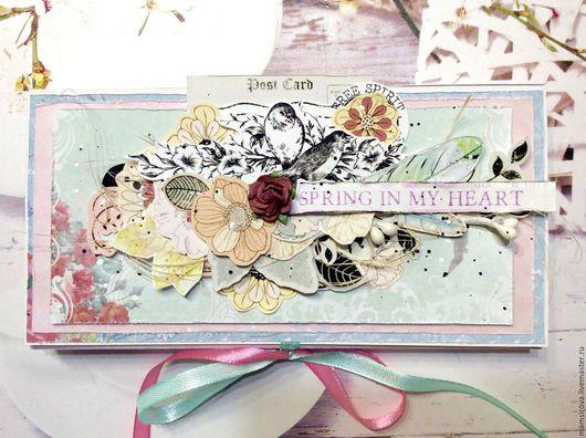 Подарочная упаковка ручной работы. Ярмарка Мастеров - ручная работа. Купить Шоколадница Spring in my heart. Handmade. Комбинированный