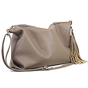 Сумки и аксессуары handmade. Livemaster - original item Bag bag leather shoulder Crossbody beige taupe hobo Bag suede. Handmade.