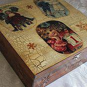 Для дома и интерьера ручной работы. Ярмарка Мастеров - ручная работа Короб для новогодних игрушек...(варианты). Handmade.
