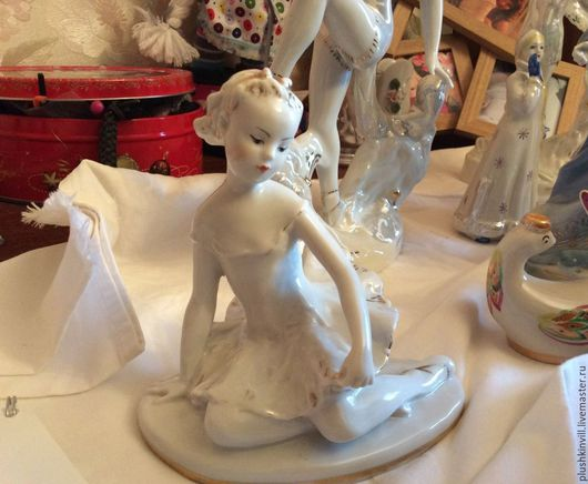 Винтажные сувениры. Ярмарка Мастеров - ручная работа. Купить Балерина Машенька, лфз. Handmade. Комбинированный, советский винтаж, статуэтка