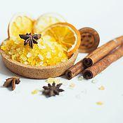 Косметика ручной работы handmade. Livemaster - original item Bath salt sea mulled Wine for two yellow. Handmade.