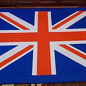 """Текстиль, ковры ручной работы.  Ярмарка Мастеров - ручная работа Лоскутное покрывало  """" Британский флаг """"."""