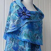 Аксессуары handmade. Livemaster - original item Turquoise -- felted tippet. Handmade.