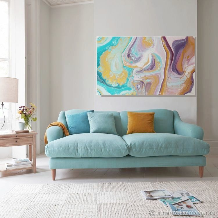 Lilac and mint. interior painting. abstraction, Pictures, Moscow,  Фото №1