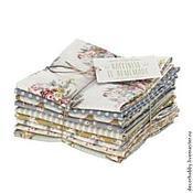 Материалы для творчества ручной работы. Ярмарка Мастеров - ручная работа Набор тканей fat quarters Happiness is home made. Handmade.