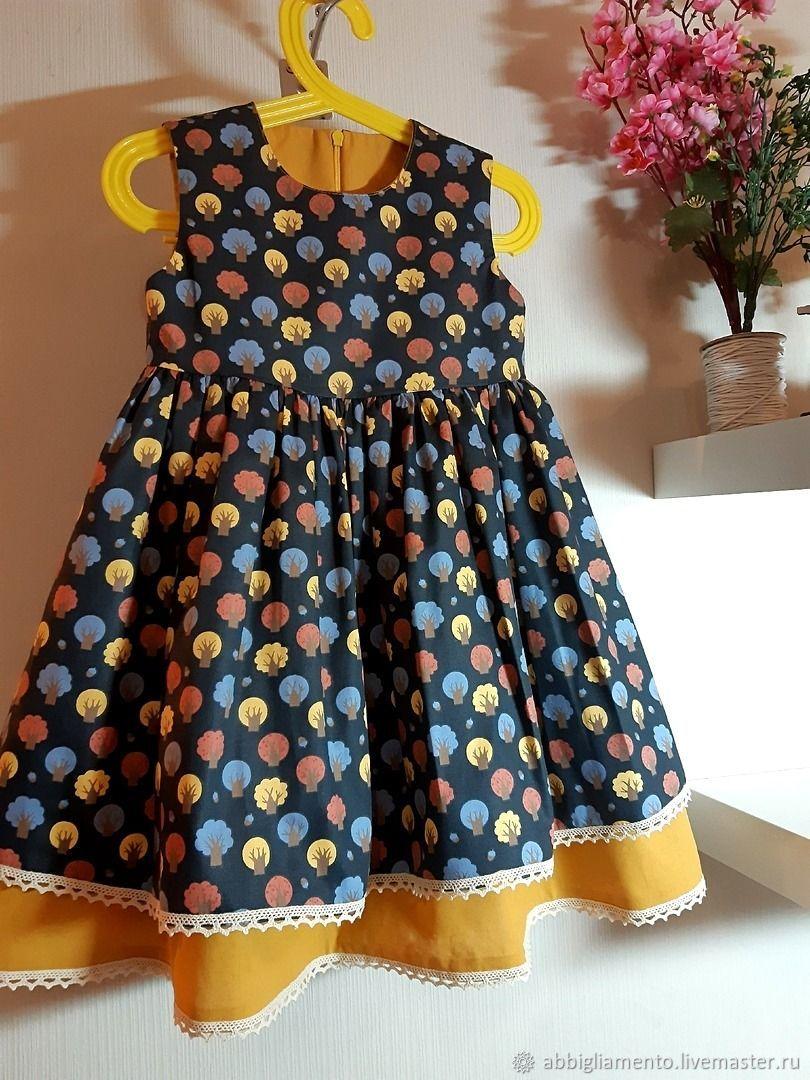 Платье-сарафан хлопковое  для девочки, Платья, Кострома,  Фото №1
