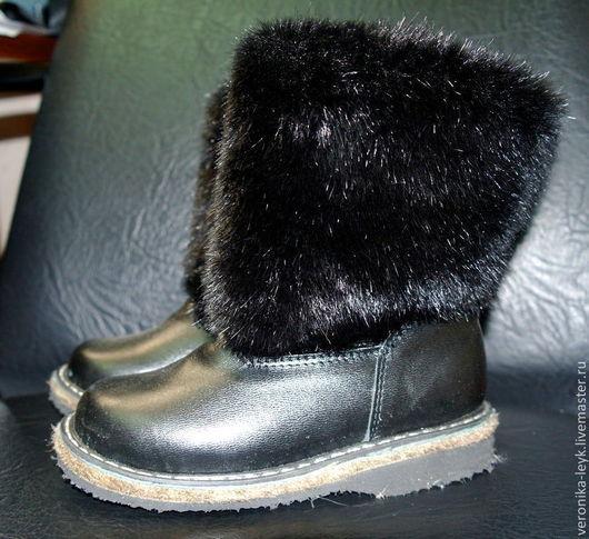 Обувь ручной работы. Ярмарка Мастеров - ручная работа. Купить Унты детские. Handmade. Черный, Унты, зимняя детская обувь