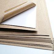 Материалы для творчества ручной работы. Ярмарка Мастеров - ручная работа 5 листов Самоклеющаяся крафт бумага А4 / упаковка. Handmade.