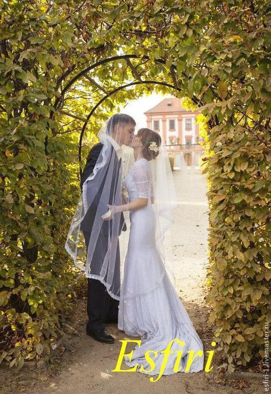 Свадебное платье на заказ. Ручная работа.