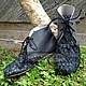 Обувь ручной работы. Ярмарка Мастеров - ручная работа. Купить Ботинки из натуральной  и рыбьей кожи. Handmade. Ботинки из кожи