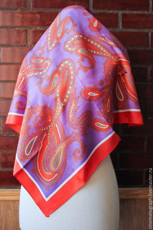 Винтажная одежда и аксессуары. Ярмарка Мастеров - ручная работа. Купить Платок Italy винтаж пейсли. Handmade. Комбинированный, винтажный платок