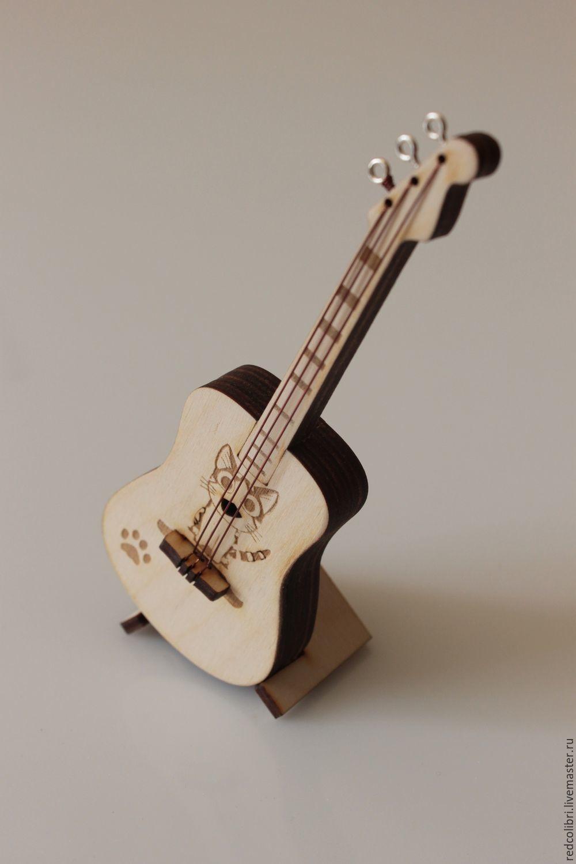 Гитара с рисунком в стиле аниме - миниатюрная копия, Мини фигурки и статуэтки, Калининград,  Фото №1