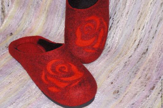 """Обувь ручной работы. Ярмарка Мастеров - ручная работа. Купить Тапочки валяные """"Фломенко"""". Handmade. Валяная обувь, домашние тапочки"""