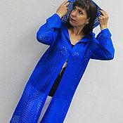 Одежда ручной работы. Ярмарка Мастеров - ручная работа Женский ажурный летний кардиган, пальто с капюшоном, сетка. Handmade.