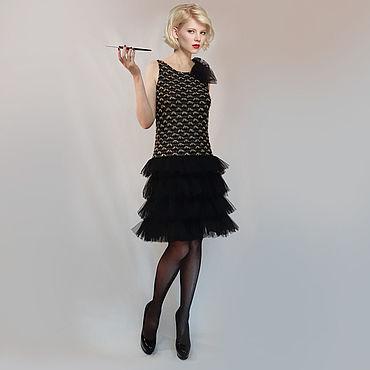 Одежда ручной работы. Ярмарка Мастеров - ручная работа Вечернее дизайнерское платье с роскошной ручной вышивкой. Handmade.