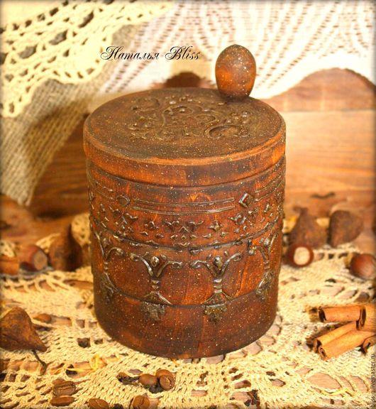 """Кухня ручной работы. Ярмарка Мастеров - ручная работа. Купить Солонка """"Сuisine"""". Handmade. Коричневый, дерево, короб для специй"""