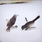 """Украшения handmade. Livemaster - original item Серьги-гвоздики из серебра """"Утро"""" (серебро 925). Handmade."""