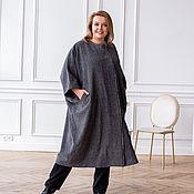 Одежда handmade. Livemaster - original item Italian wool coat grey melange oversize. Handmade.