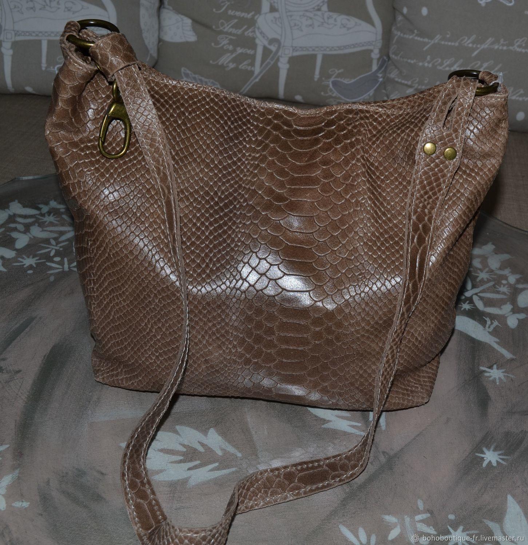 3bc8c87e4768 Ярмарка Мастеров Женские сумки ручной работы. Кожаная женская сумка  коричневая. BohoBoutique-FR.