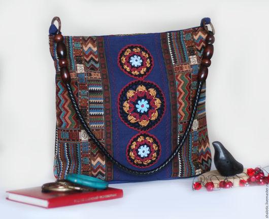 Гобеленовая сумка ручной работы, сумки и рюкзаки из льна и гобелена, автор Юлия Льняная сказка