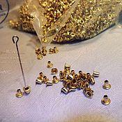 Материалы для творчества ручной работы. Ярмарка Мастеров - ручная работа мини MINI самый маленький люверс (блочка) -1,5 ММ (цена за набор 50шт). Handmade.