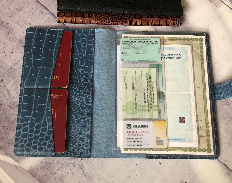 Органайзер для документов из натуральной кожи под каймана (формат В5), Папки, Москва, Фото №1