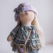 Куклы и игрушки ручной работы. Ярмарка Мастеров - ручная работа Кукла Анфиса в голубом платье. Handmade.