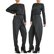 Одежда handmade. Livemaster - original item Women`s jumpsuit Winter Romper jumpsuit Gray -