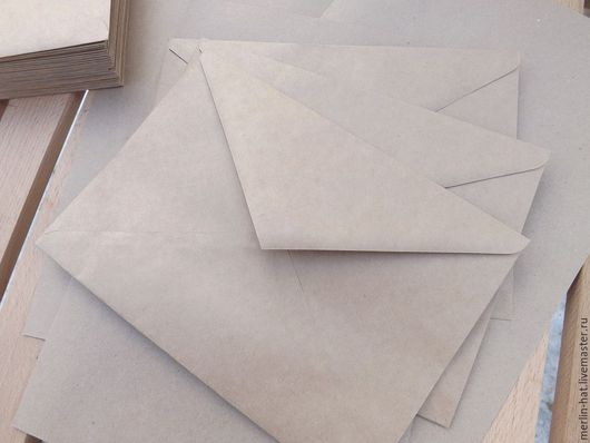 Упаковка ручной работы. Ярмарка Мастеров - ручная работа. Купить Крафт конверт C5 (162x229мм). Handmade. Крафт, крафт бумага