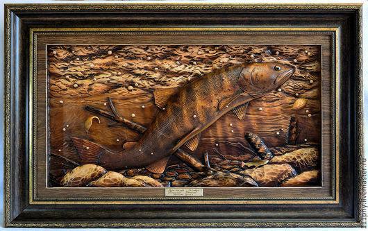 Животные ручной работы. Ярмарка Мастеров - ручная работа. Купить Рыбы Алтая - Таймень, подводный пейзаж. Handmade. Подводный мир