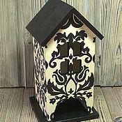 """Для дома и интерьера ручной работы. Ярмарка Мастеров - ручная работа Чайный домик """"Черно-белое"""". Handmade."""