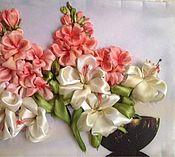 Картины и панно ручной работы. Ярмарка Мастеров - ручная работа Лилии и сакура. Handmade.