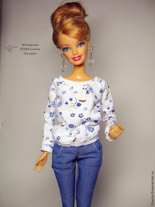 Одежда для кукол ручной работы. Ярмарка Мастеров - ручная работа. Купить Джемпер и юбка  для Барби и  Fashion Royalty. Handmade.