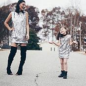 Одежда handmade. Livemaster - original item Stylish family look for mom and daughter. Handmade.