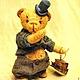 """Мишки Тедди ручной работы. Заказать Mr. Бредли (коллекция """"Твид- старая Англия""""). Пур-Пур (pur-pur). Ярмарка Мастеров."""