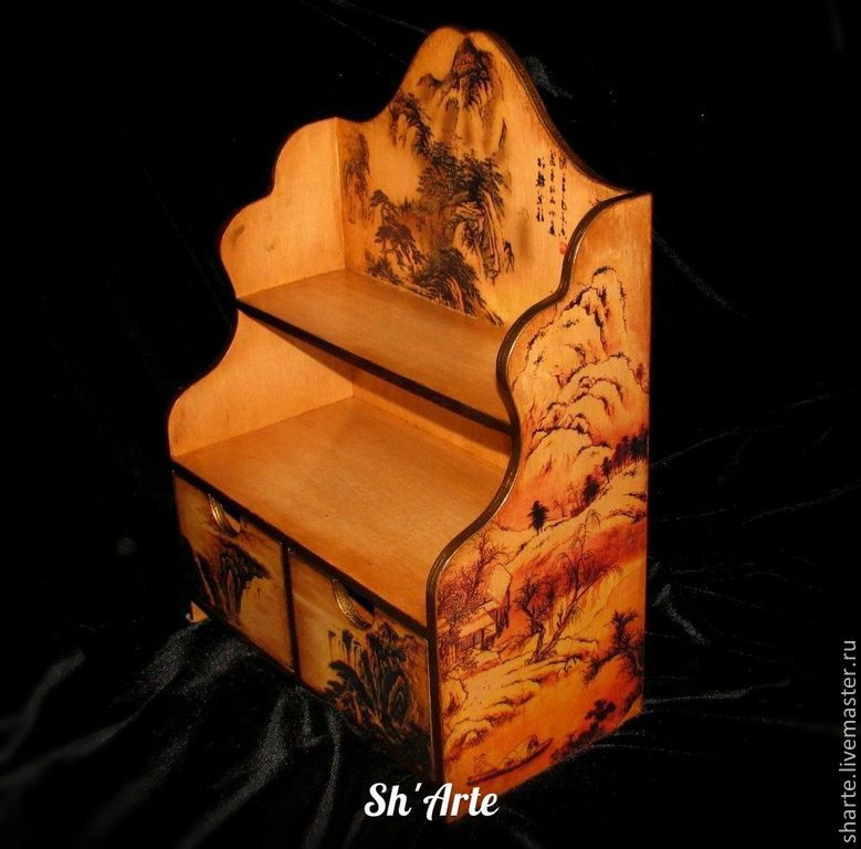 Mini chest of drawers Chinese landscape, Dressers, Moscow,  Фото №1