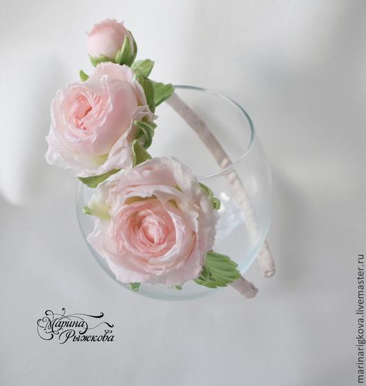 """Цветы ручной работы. Ярмарка Мастеров - ручная работа. Купить Ободок """"Барокко"""". Handmade. Розы на ободке, украшение на голову"""