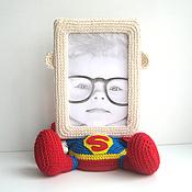 """Сувениры и подарки ручной работы. Ярмарка Мастеров - ручная работа Фоторамка """"Супермен"""". Handmade."""