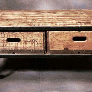 Мебель ручной работы. Ярмарка Мастеров - ручная работа Тумба steel & wood. Handmade.