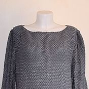 Одежда handmade. Livemaster - original item The sweater is women`s, pearl gray color. Handmade.