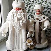 Дед Мороз и Снегурочка ручной работы. Ярмарка Мастеров - ручная работа Дед Мороз и Снегурочка. Handmade.