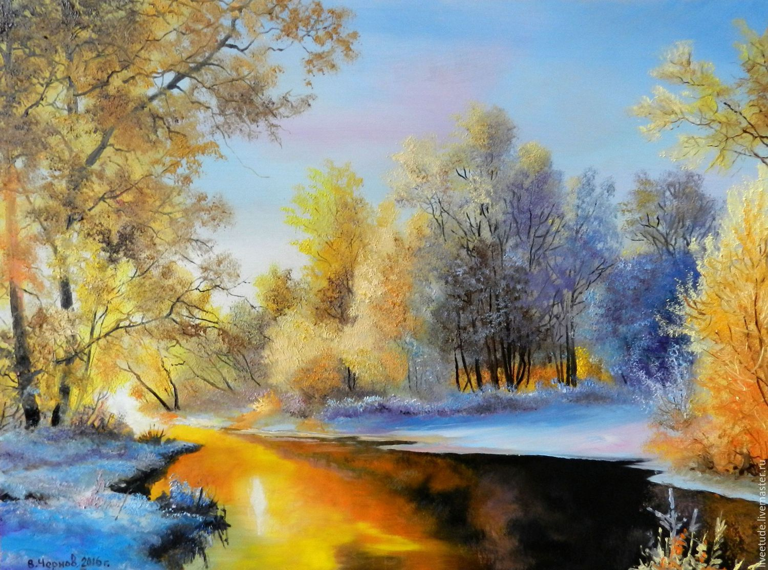 Oil painting landscape zimnyaya roskoshi author 39 s work for Oil painting scenery