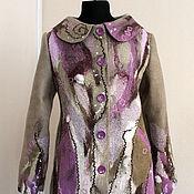 """Одежда ручной работы. Ярмарка Мастеров - ручная работа """"Муранское стекло"""" пальто демисезонное. Handmade."""