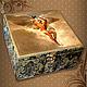 """Персональные подарки ручной работы. Ярмарка Мастеров - ручная работа. Купить Коробка для чая """"Икар"""". Handmade. Декупаж, коробка для чая"""