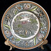 Тарелки винтажные ручной работы. Ярмарка Мастеров - ручная работа Очаровательная тарелочка, Wood & Sons, Англия. Handmade.