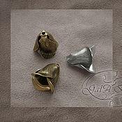 Материалы для творчества ручной работы. Ярмарка Мастеров - ручная работа Колпачок Тюльпан средний (античное серебро,Sterling).. Handmade.