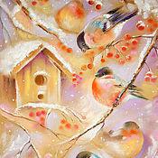 Картины и панно ручной работы. Ярмарка Мастеров - ручная работа Принт Чудные птахи. Handmade.