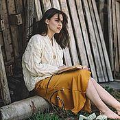 Одежда handmade. Livemaster - original item cardigans: Women`s knitted cardigan oversize milk color. Handmade.