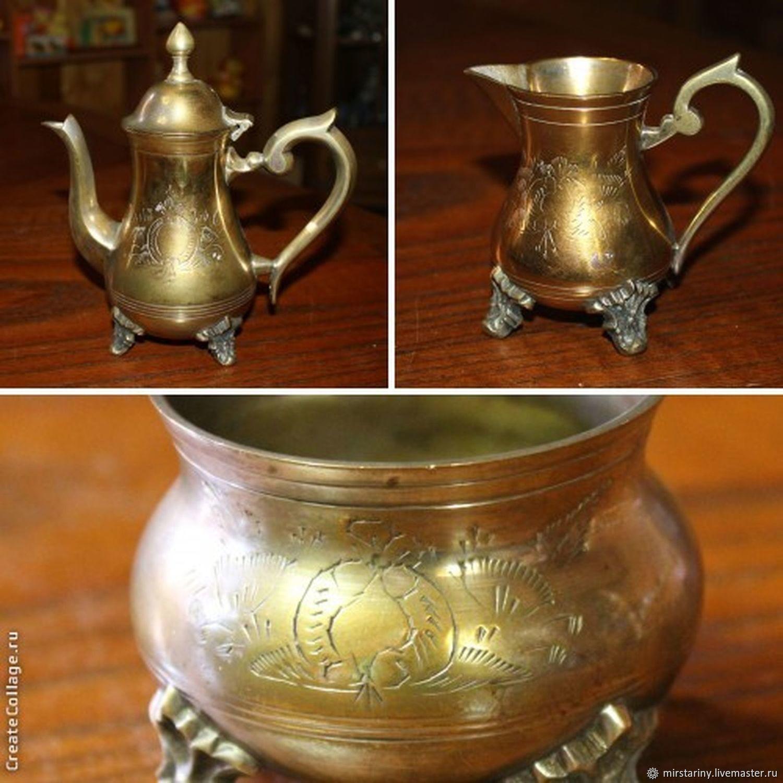 Vintage Kitchenware. Livemaster - handmade. Buy Antique coffee set of 3  items, ...