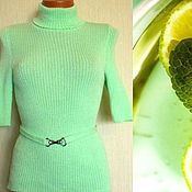 Одежда handmade. Livemaster - original item Turtleneck Noodles, Mint, and lime. Handmade.